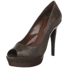 Spice up your little black dress with the stunning Fatima pumps from BCBGeneration.Leather, metallic, animal-print calf hair or patent leather upper in a platform dress pump style with a peep toeDeeply scooped vampSmooth lining, cushioning insole1 1/2 inch platform midsoleFlat traction outsole4 1/2 inch wrapped heel http://www.amazon.com/dp/B003EV79U6/?tag=icypnt-20