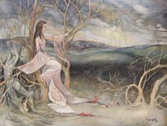 The Memory of Innocence by Lanevska on DeviantArt Mists Of Avalon, Good And Evil, Surreal Art, Gouache, Fantasy Art, Medieval, Sci Fi, The Incredibles, Memories