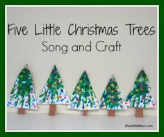 Hand print tree and a fun Christmas tree song.