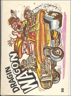 Oddest Odd Rods 86 A, Jan 1970 Trading Card by Donruss Cool Car Drawings, Pencil Art Drawings, Cartoon Car Drawing, Cartoon Art, Cartoons Magazine, Robert Williams, Rat Fink, Collector Cards, Big Daddy