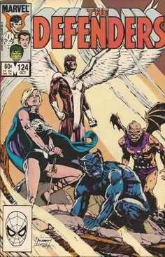 the Defenders #124 by Sandy Plunkett Marvel Comics, Marvel Comic Books, Comic Book Characters, Comic Book Heroes, Marvel Heroes, Marvel Characters, Comic Character, Comic Books Art, Comic Art