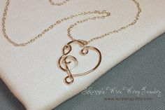 I Have Music in My Heart Necklace Sterling Silver or by wirewrap, $46.00