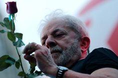 Ex-presidente Luiz Inácio Lula da Silva, em São Paulo, após resultado no TRF4, dia 24/01/2018