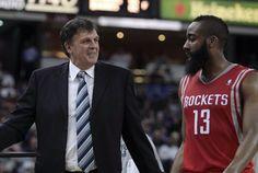 Houston Rockets Kevin McHale, James Harden