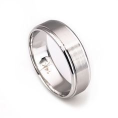 14k solid white gold 6mm comfort fit wedding band