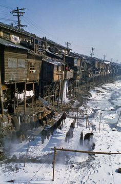 "Seoul taken in the 1950s.  Seoul, 1957. Seoul seemed quite rocky.  Seoul,1957.  Seoul. Taken by Izzet Keribar on December 1956. The below part seems to have been the ""shopping area near Yongsan"":  Shopping area near Yongsan in 1954. Taken by Robert Furrer.  Shopping area near Yongsan in 1954. Taken by Robert Furrer. (I think this is Chungmuro/Myeongdong, not sure thus).  A aerial photograph show.."