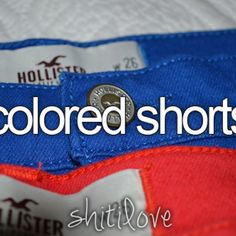 Colored shorts <3