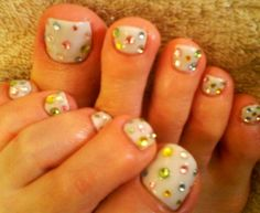 Jeweled Feet. Perfect even for bridal wear - in exquisite peepers!
