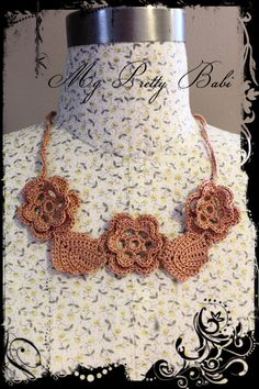Crochet Necklace by myprettybabi, $33.00 @Etsy @Meylah Marketplace  Grab a coupon code in my shop main page to receive 20% off - you can use it in any item in my shop include already reduced items - coupon code expires on the 24th June