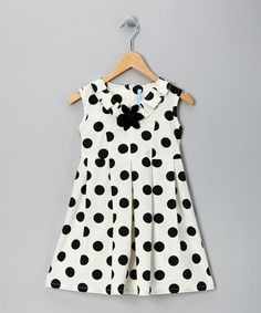 Take a look at this Cream Polka Dot A-Line Dress - Toddler & Girls by Willoughby on #zulily today!