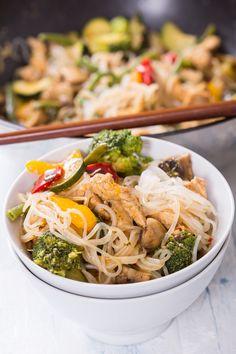 Poulet Thai aux brocolis et Shiratakis de Konjac