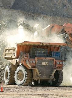Gold mine haul truck