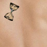 hourglass on light skin | tattoo stencil - temporary tattoo