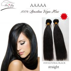 """Unprocessed 6a High Quality 100% Brazilian Virgin Human Hair Extensions Straight Weave  2pcs/lot  12""""-30"""" 100g nature color $36.00 - 104.00"""