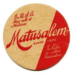 Cuba Matusalem Rum Coaster 1950s - Havana Collectibles