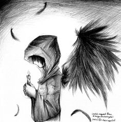 Emo angel boy by skissored i just thought it looked cool anime boy angel google search thecheapjerseys Image collections