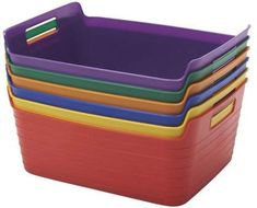 ECR4Kids Large Bendi-Bin with Handle Assorted