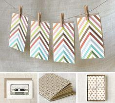 fun herringbone style note cards- cute!