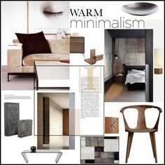 """Warm Minimalism Set 1"" by szaboesz on Polyvore"