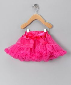 Love this Hot Pink Bow Pettiskirt - Infant, Toddler & Girls by Just For Girls on #zulily! #zulilyfinds