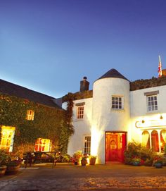 Beautiful Bushmills Inn, County Antrim, looks just like the perfect spot to spend a cozy afternoon, snuggled up inside, safely out of the winter chill.
