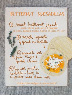 Butternut Quesadillas with Manchego & Thyme | by Erin Gleeson/The Forest Feast, for Better Homes & Gardens