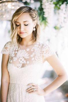 Beautiful And Simple Wedding Hairstyles ❤ See more: http://www.weddingforward.com/simple-wedding-hairstyles/ #weddings