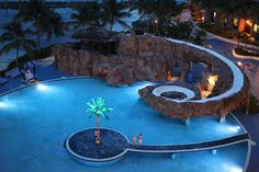 Anywhere with palm trees and amazing pools.....