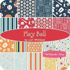 "Play Ball 5"" StackerLori Whitlock for Riley Blake Designs   Fat Quarter Shop"