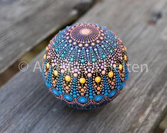 This stone has been created with acrylic paint and protected with matt varnish. The stone is about 6 cm in diameter and will add a nice accent to any environment or can be a great present - it will be delivered in a beautiful packaging. Please contact me if you have any questions. The stone is ready to ship within 1-3 business days using DHL with a tracking number. ©All photos and designs are protected by copyright © Anastasia Helten. I am following each case of infringement