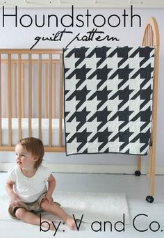 @Donna Simpson  I don't know how to quilt but if I did I would make this houndstooth quilt