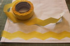 Chevron Frogtape for painting rugs, curtains, etc.