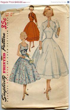 ON SALE 1950s Dress Pattern Simplicity 4676 One by GreyDogVintage