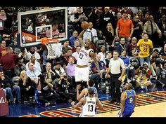 LeBron James' Game 3 Alley Oop Heard Around The World - YouTube