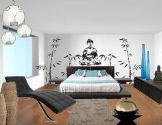 Oriental zen bedroom design #interiordesign #sampleboard #moodboard