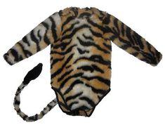 Süßes Tigerkostüm für Babys - Schnittmuster und Nähanleitung via Makerist.de