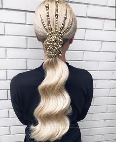 The cutest hair accessories ever! Bride Hairstyles, Ponytail Hairstyles, Pretty Hairstyles, Perfect Hairstyle, Hair Ponytail, Hairstyle Ideas, Natural Hair Styles, Long Hair Styles, Sleek Ponytail