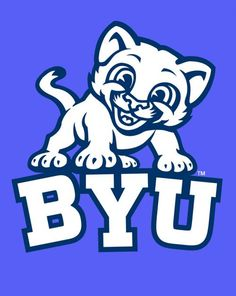 Brigham Young Cougars Wall Decal Vinyl Sticker Art Decor Cornhole EXTRA LARGE