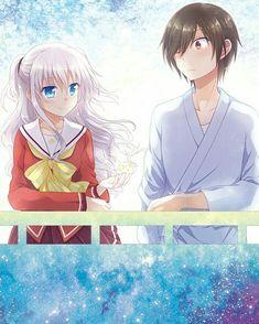 Kawaii Yuu and Nao Anime Angel, Anime Demon, Manga Anime, Anime Love Couple, Cute Anime Couples, Charlotte Tomori, Best Cartoon Shows, Animé Fan Art, Anime Triste