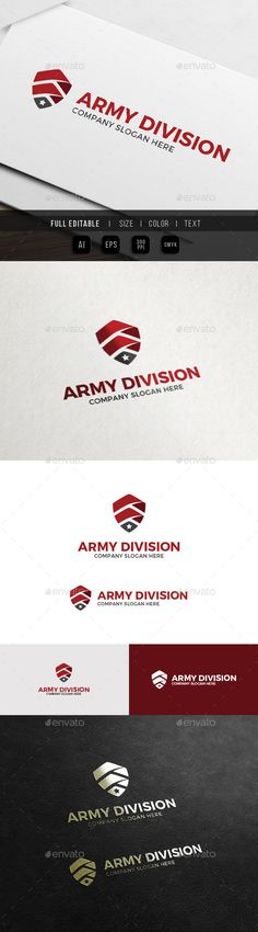 Army Shield  Military Security Logo — Vector EPS #clothing #service • Available here → https://graphicriver.net/item/army-shield-military-security-logo/12319168?ref=pxcr
