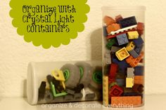 31 Days of Getting Organized (Using What You Have) - Day 10: Organize With Crystal Light Containers - Organize and Decorate Everything