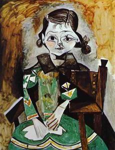 Franèoise , claude y paloma, aceite de Pablo Picasso (1881-1973, Spain)