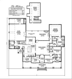 Madden Home Design - Melrose 3-4 bedrooms, bonus room, 3.5 baths; width 82'0