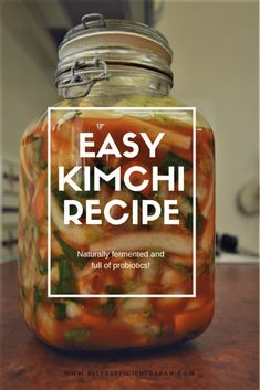 Make this super easy kimchi recipe packed with beneficial probiotics! Make this super easy kimchi recipe packed with beneficial probiotics! Fermentation Recipes, Canning Recipes, Homebrew Recipes, Beer Recipes, Vegetable Dishes, Vegetable Recipes, Korean Dishes, Korean Food, Vietnamese Food