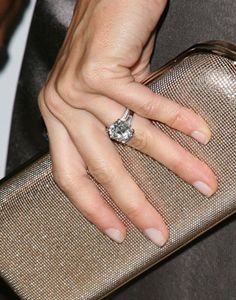 Gisele Bundchen engagement ring. Timeless! Love wedding band combo.
