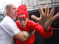 Justin Bieber's Bodyguards Get Rough With Paparazzi -- 'Look What Happens'.
