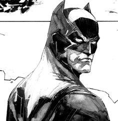 Batman, by Kenneth Rocafort (3/7). Batman: Black and White #4.