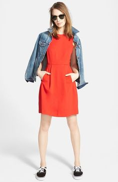 Loving this Madewell 'Abroad' Inset Fit & Flare Dress.