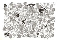 """""""too much for one"""", #Zeichnung #Pigmenttusche (#PITT #artist #pen Faber-Castell ) auf #Hahnemühle #Papier """"Nostalgie"""", 190 g/m2 21 x 30 cm, © #matthias #hennig 2015    """"too much for one"""", #india #ink #drawing (#PITT #artist #pen Faber-Castell ) on Hahnemühle  #paper """"Nostalgie"""",190 g/sqm 21 x 30 cm, © #matthias #hennig 2015"""