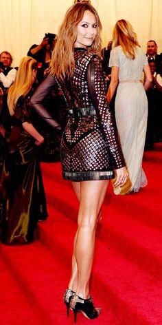Stacy Keibler in Rachel Roy and Jacob & Co. jewelry  - Met Gala 2013 #HauteCouture #RedCarpet